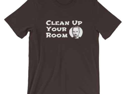 Clean Up Your Room Jordan Peterson T-Shirt Brown Unisex