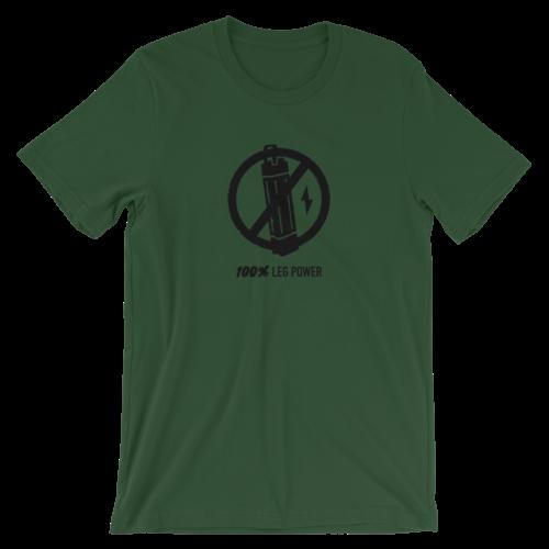 Olive Green 100% Leg Power T-Shirt