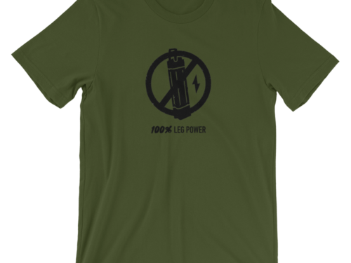 Forest Green 100% Leg Power T-Shirt