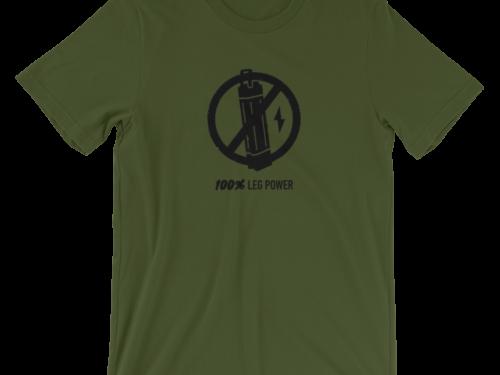 Forest Green 100% Leg Power T-Shirt
