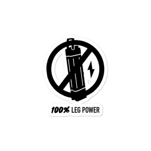 Leg power sticker