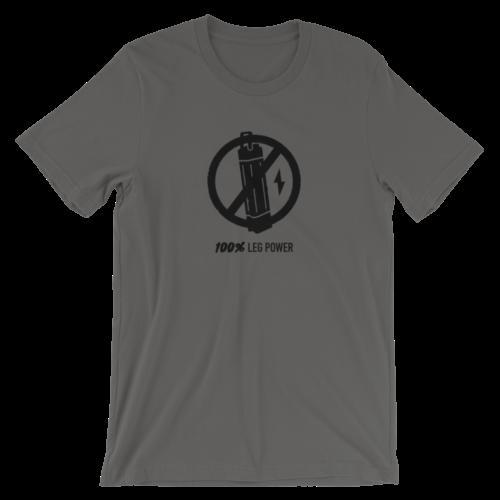 Asphalt Gray 100% Leg Power T-Shirt