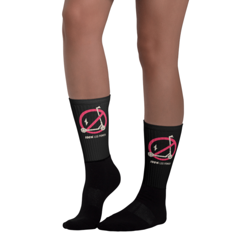Black 100% Leg Power Socks - Left side
